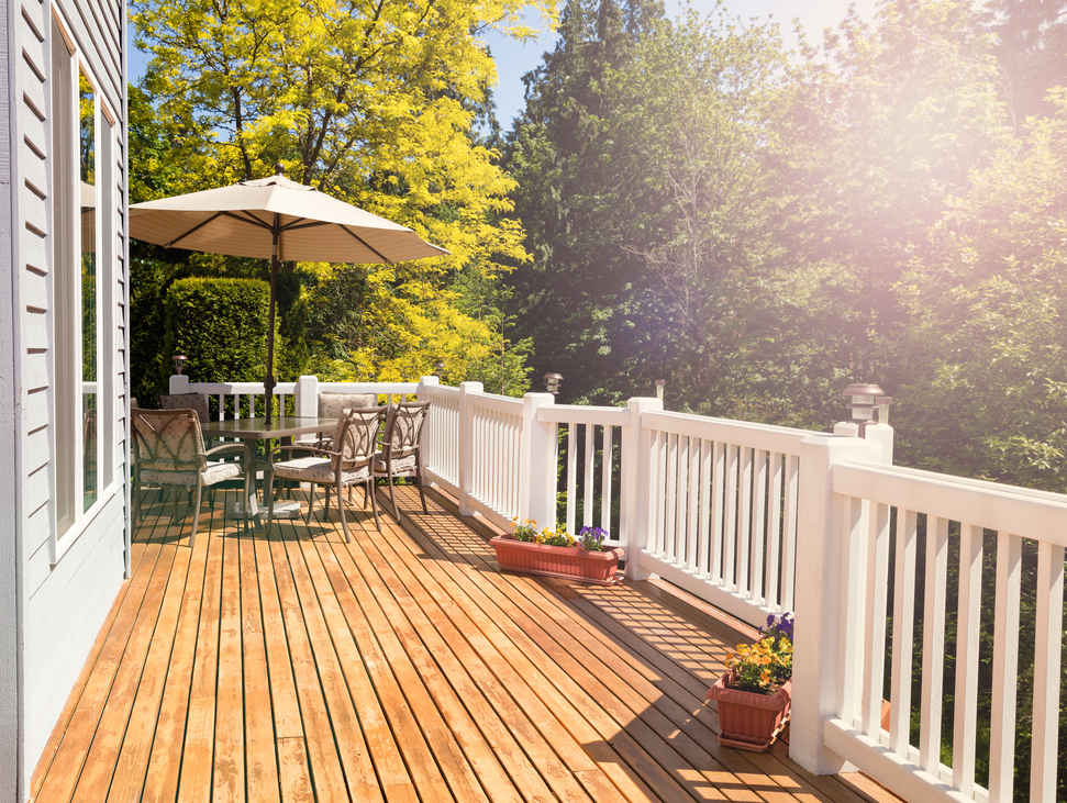 Deck Board and Railing image
