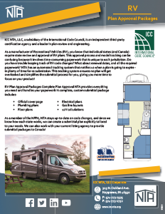 NTA RV Plan Approval