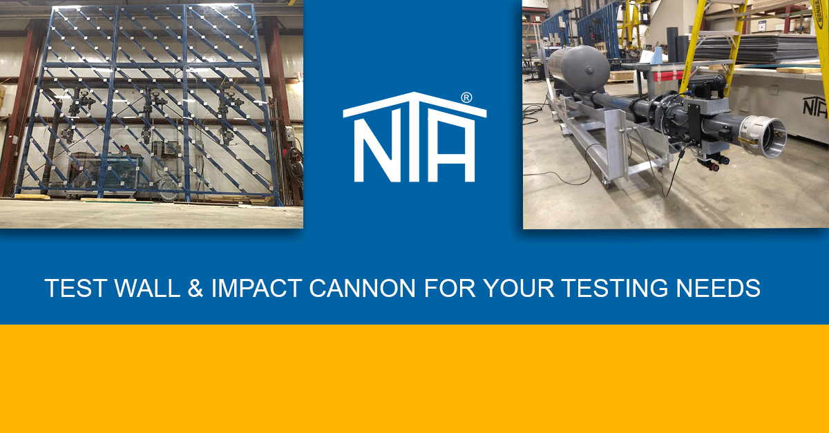 NTA Test Wall and impact cannon