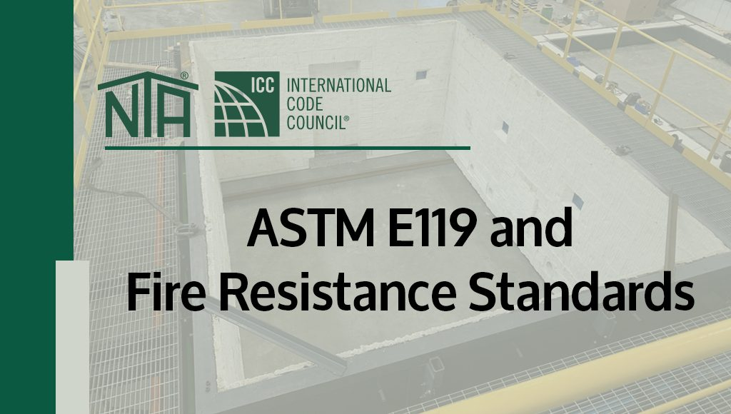 Meeting ASTM E119 and Fire Resistance Standards
