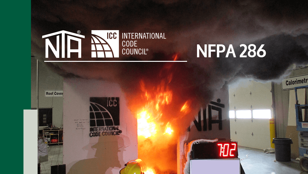 Fire Safety Measurements with NFPA 286